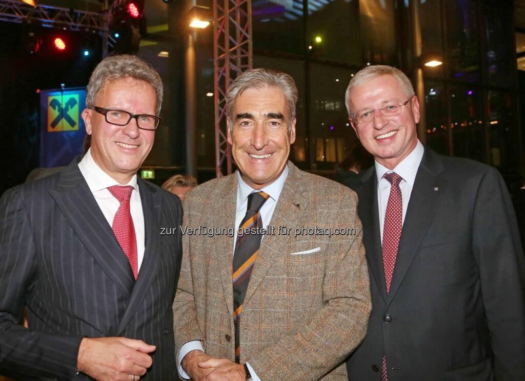 Klaus Dorninger (OÖ. Gas-Wärme), Johannes Hödlmayr (Fahrzeuglogistik-Unternehmer), Markus Vockenhuber (RLB OÖ) - (Bild: RLB OÖ/Strobl) (01.11.2013)