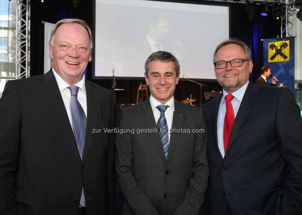 Gerhard Falch (Amag), Heinrich Schaller (RLB OÖ), Josef Stockinger (OÖ Versicherung) - (Bild: RLB OÖ/Strobl) (01.11.2013)