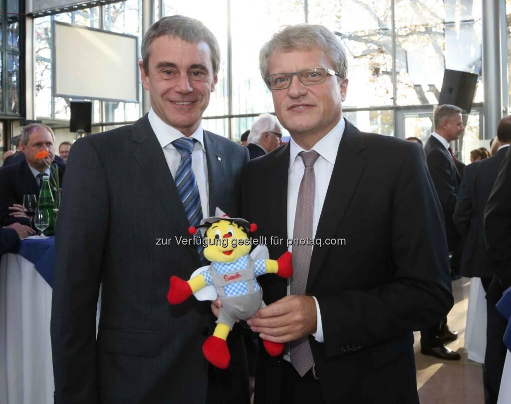 Heinrich Schaller (RLB OÖ), Klaus Luger (designierter Bürgermeister der Stadt Linz) - (Bild: RLB OÖ/Strobl) (01.11.2013)