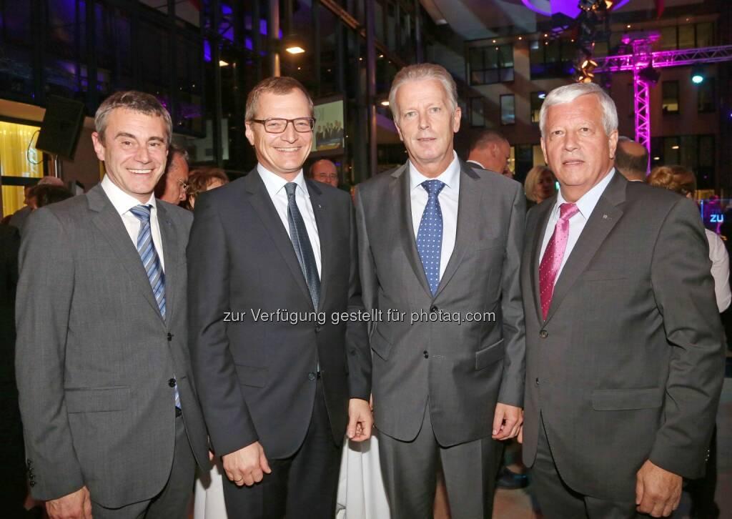 Heinrich Schaller (RLB OÖ), Thomas Stelzer (OÖVP Klubobmann), Reinhold Mitterlehner (Bundesminister), Jakob Auer (RLB OÖ) - (Bild: RLB OÖ/Strobl) (01.11.2013)
