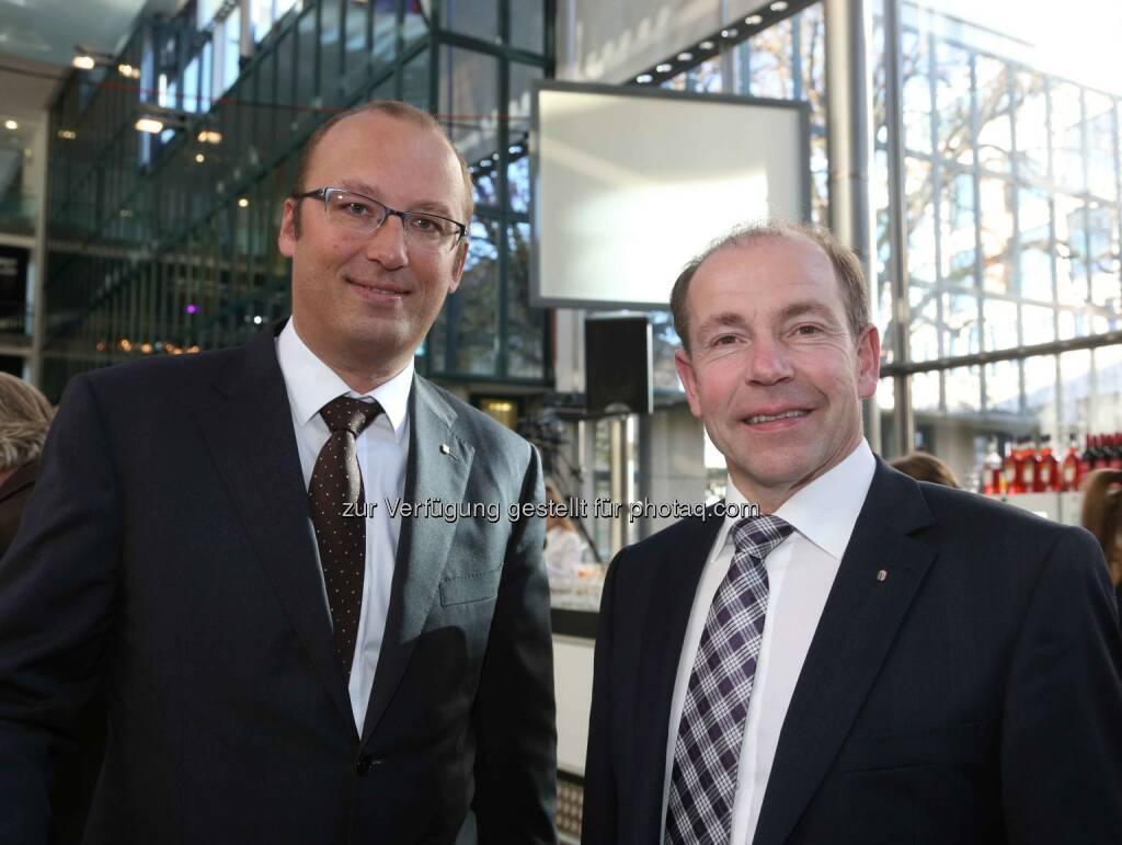 Reinhard Schwendtbauer (RLB OÖ), Max Hiegelsberger (Landesrat) - (Bild: RLB OÖ/Strobl) (01.11.2013)