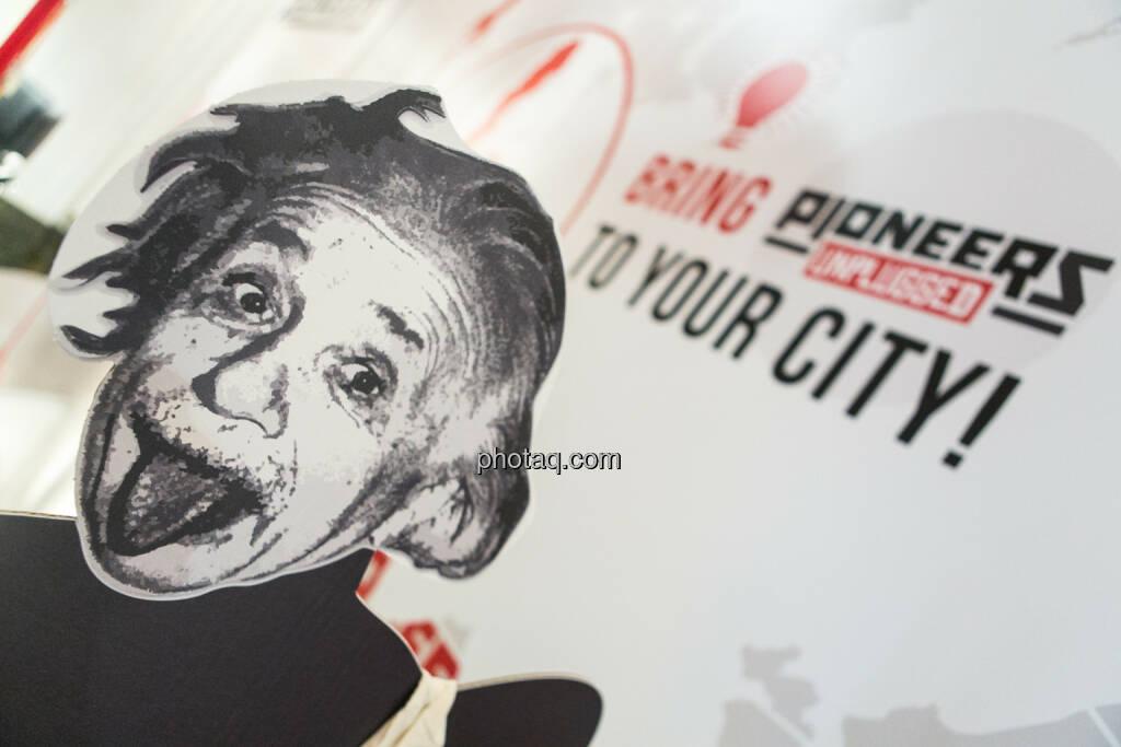 Albert Einstein am Pioneers Festival 2013, © finanzmarktfoto.at/Martina Draper (01.11.2013)