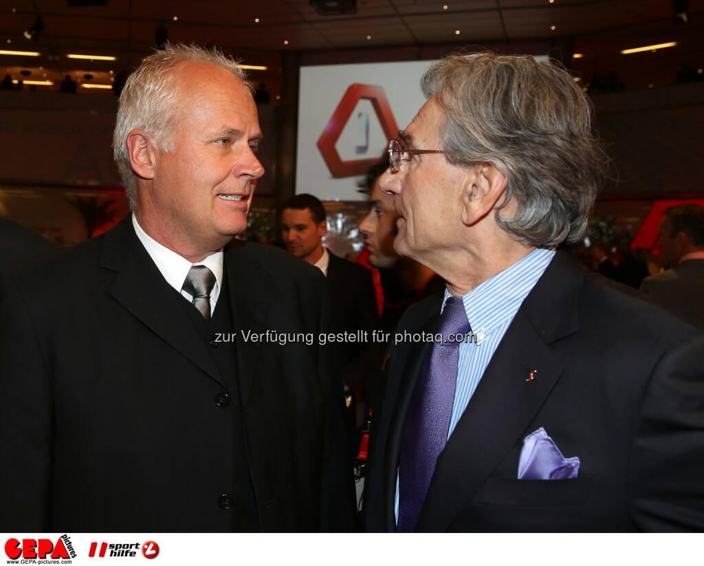 Rupert Steger und Klaus Leistner (OESV). Foto: GEPA pictures/ Hans Oberlaender (02.11.2013)