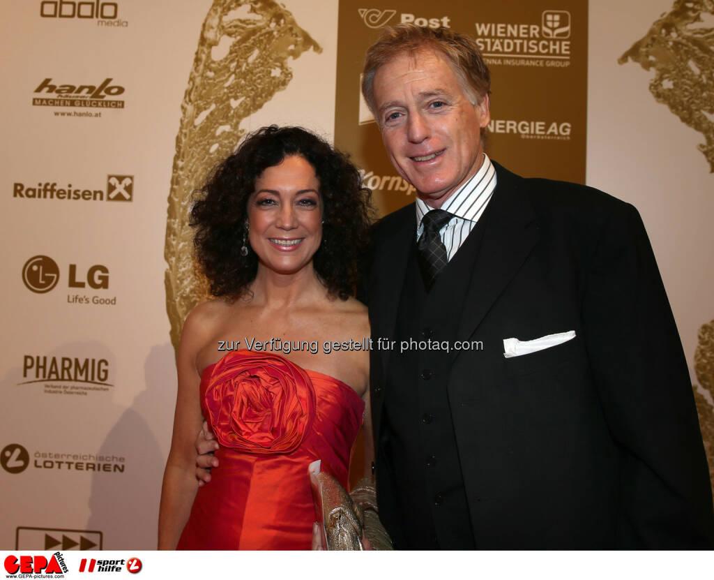 Barbara Wussow und Albert Fortell. Foto: GEPA pictures/ Hans Oberlaender (02.11.2013)