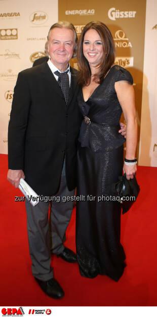 Peter Hofbauer und Vera Russwurm. Foto: GEPA pictures/ Markus Oberlaender (02.11.2013)