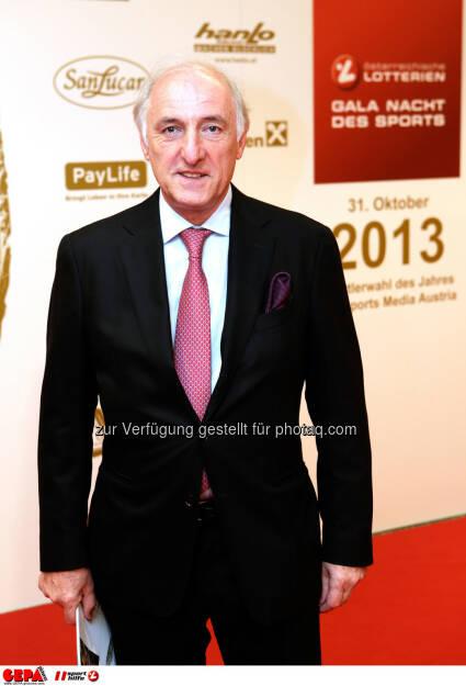 Praesident Peter-Michael Reichel (LASK Linz). Foto: GEPA pictures/ Walter Luger (02.11.2013)