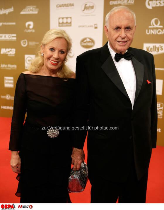 Helga Kuhn und Praesident Michael Kuhn (Sports Media Austria). Foto: GEPA pictures/ Walter Luger