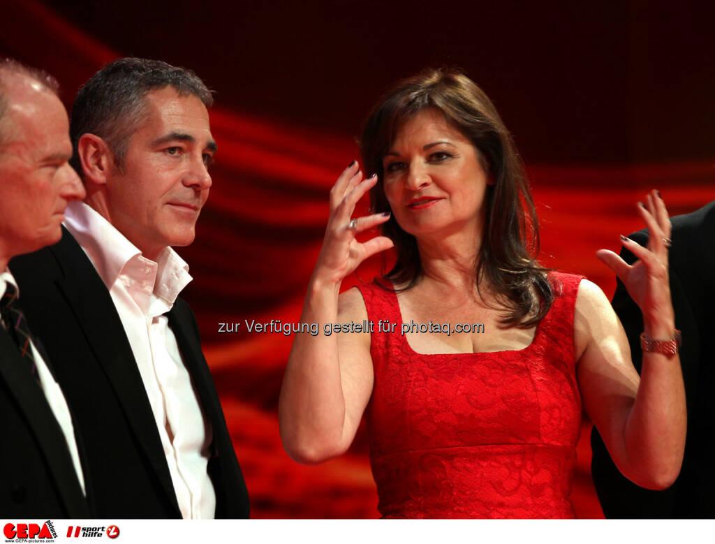 Christian Clerici und Susanne Riess (Wuestenrot). Foto: GEPA pictures/ Markus Oberlaender (02.11.2013)
