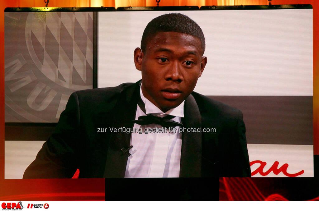 David Alaba (FC Bayern Muenchen) auf einer Videowall. Foto: GEPA pictures/ Christian Walgram (02.11.2013)