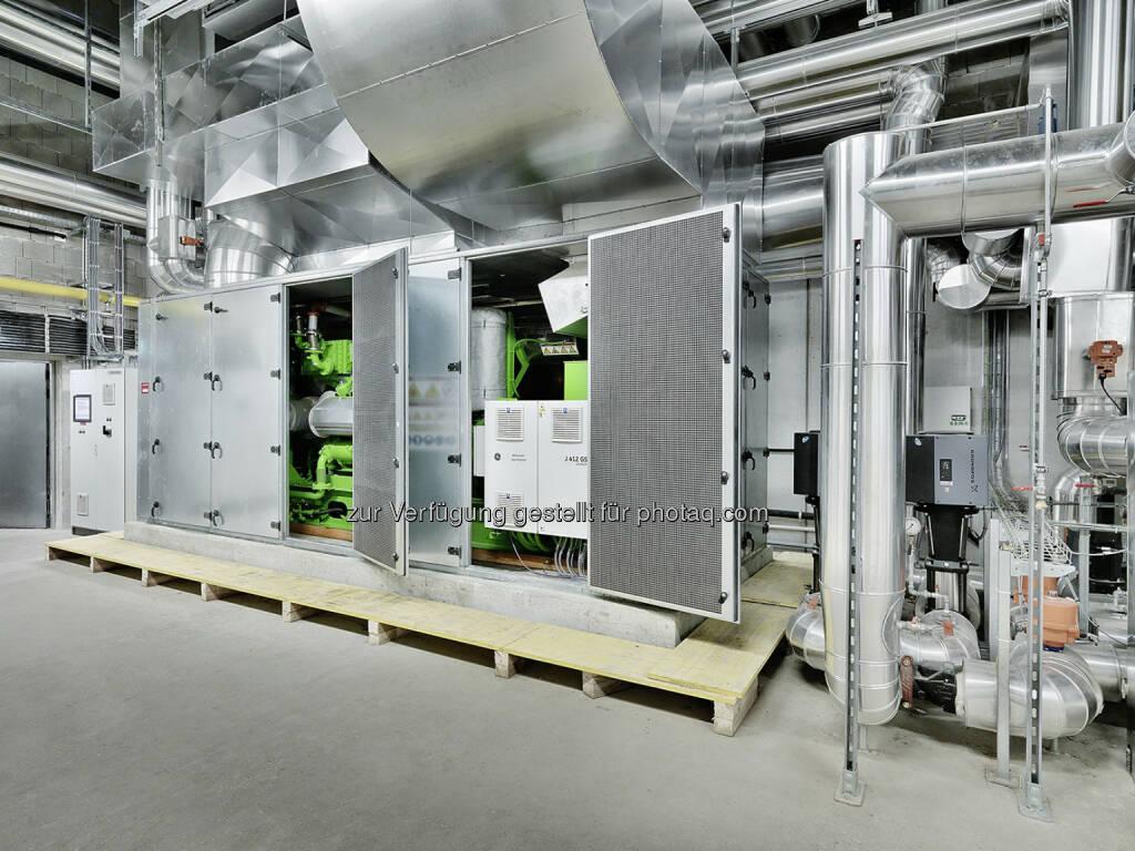 Mpreis setzt auf Gasmotorentechnologie von GE Jenbacher, Neues Blockheizkraftwerk versorgt Zentrale der Supermarktkette mit Strom und Wärme (Bild: GE Jenbacher) (07.11.2013)