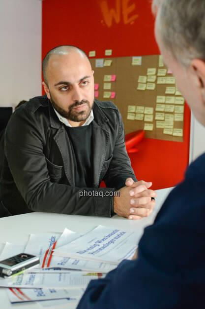 Ali Mahlodji (whatchado), Christian Drastil, © finanzmarktfoto.at/Martina Draper (08.11.2013)