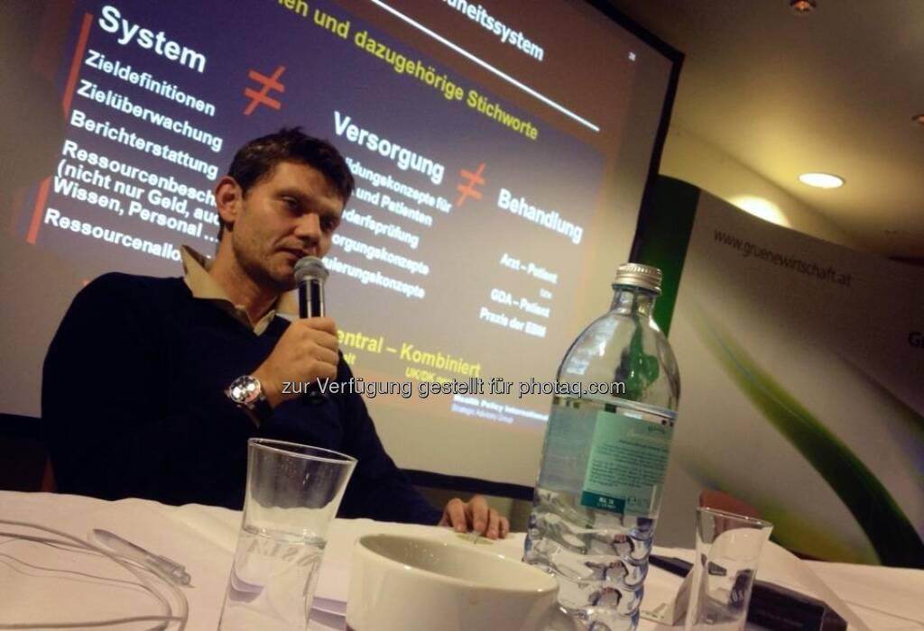 Volker Plass: Krankes System! Gesundheitsökonom Ernest Pichlbauer mit superspannendem Vortag bei Generalversammlung der Grünen Wirtschaft, © Grüne Wirtschaft (15.12.2012)