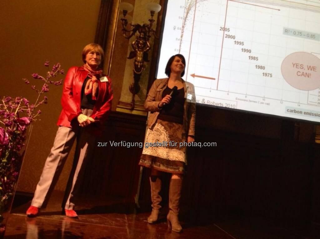 Volker Plass: Starker Auftritt von Marina Fischer-Kowalski und Sabine Jungwirth bei der Tagung der Grünen Wirtschaft , © Grüne Wirtschaft (15.12.2012)