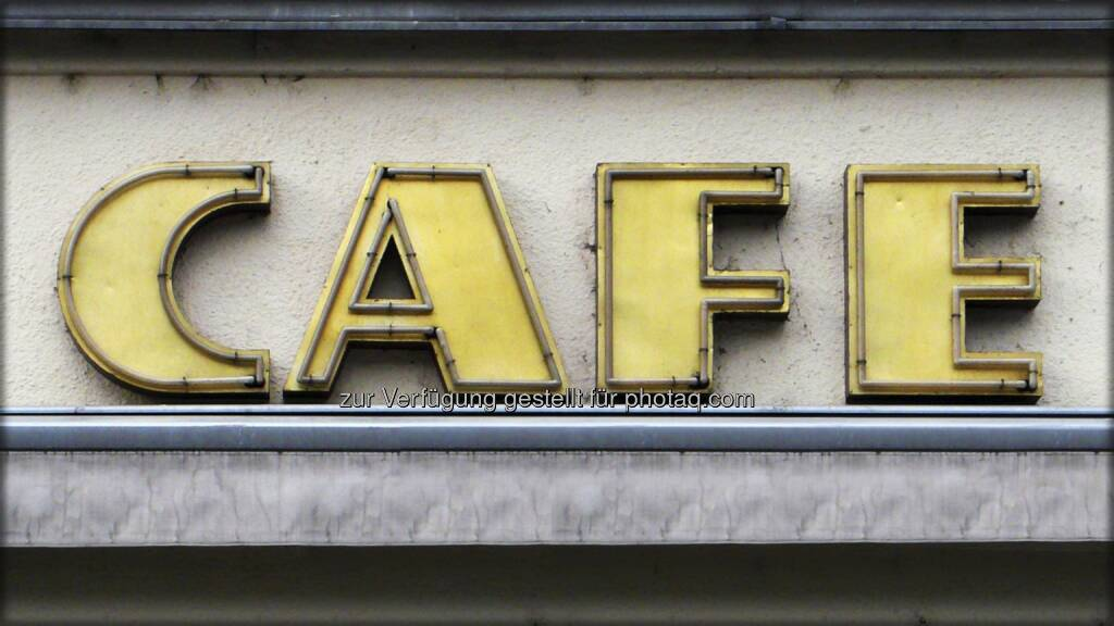 Cafe ; Schild, © Volker Plass (15.12.2012)