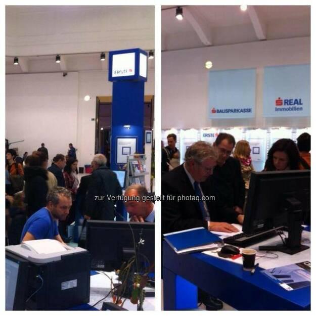 Viele Besucher, informative Gespräche. Wohnmesse: http://www.erstebank.at/tiny/wohnmesse (10.11.2013)