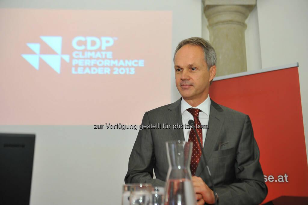 Martin Grüll, RBI, CDP Österreich Jahreskonferenz 2013, © CDP, Fotograf: Philipp Hutter. (11.11.2013)
