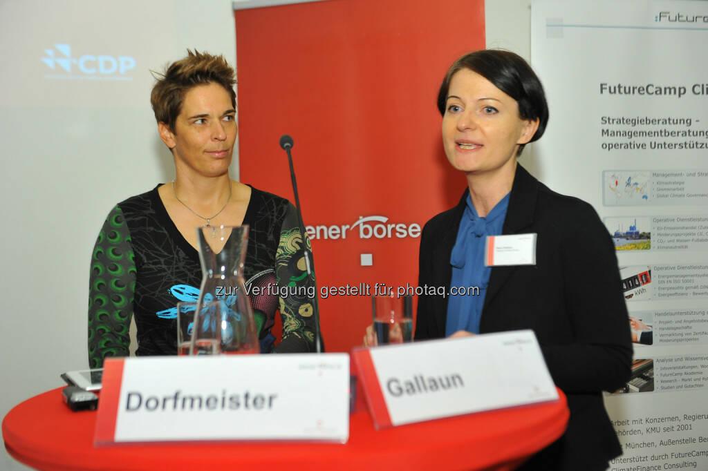 Michaela Dorfmeister, Petra Gallaun (Telekom Austria Group), © CDP, Fotograf: Philipp Hutter. (11.11.2013)