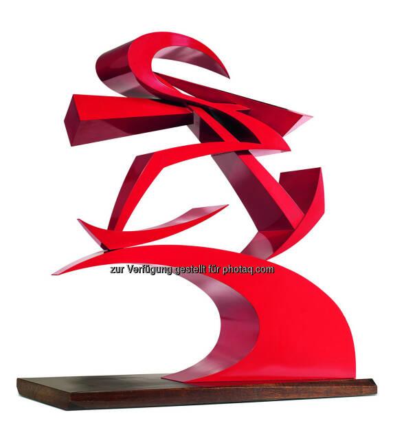 Giacomo Balla (1871 - 1958) Linee di forza del pugno di Boccioni II, 1915/1968, Messingblech armiert, rot lackiert, 80,5 x 75,5 x 25,5 cm  Schätzwert € 50.000 - 70.000  Auktion 28. November 2013 , © Dorotheum (12.11.2013)