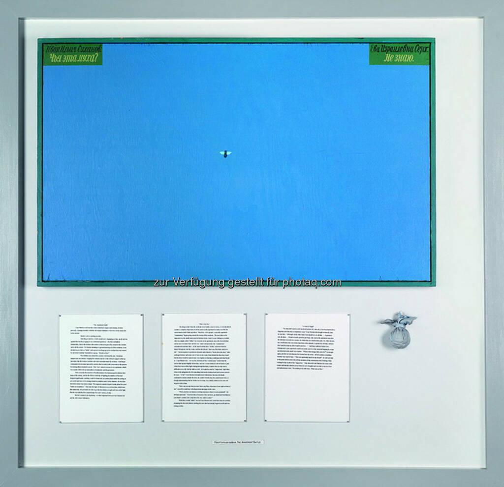 Ilya Kabakov (geb. 1933) The Apartment Battle 1, 2000, Öl/Email/Papier/Stoff auf Holz, 64 x 102 cm, 126 x 130 cm  Schätzwert € 100.000 - 150.000  Auktion 27. November 2013 , © Dorotheum (12.11.2013)