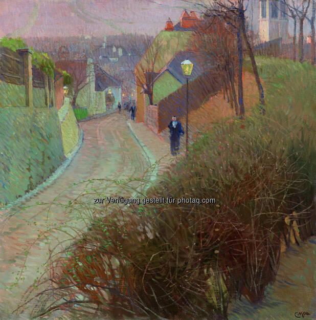 Carl Moll (1861 - 1945) Blick von der Hohen Warte auf Heiligenstadt, um 1900, Öl/Leinwand, 80 x 80 cm  Schätzwert € 280.000 - 360.000  Auktion 28. November 2013 , © Dorotheum (12.11.2013)