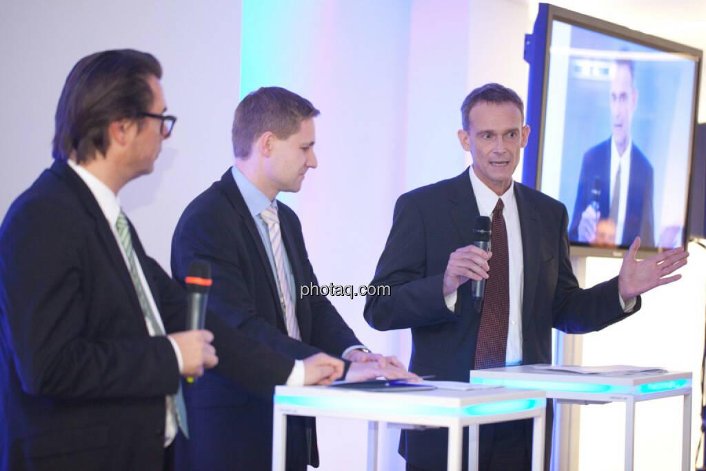Matthias Beschof, Austria Wirtschaftsservice GmbH, Gottfried Haber, Donau-Univ. Krems, Andreas Schibany, IHS Institut für Höhere Schulen, © finanzmarktfoto.at/Michi Mejta (13.11.2013)