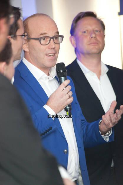 Oliver Holle, Geschäftsführer Speed Invest GmbH, Herbert Gartner, Business Angel, © finanzmarktfoto.at/Michi Mejta (13.11.2013)