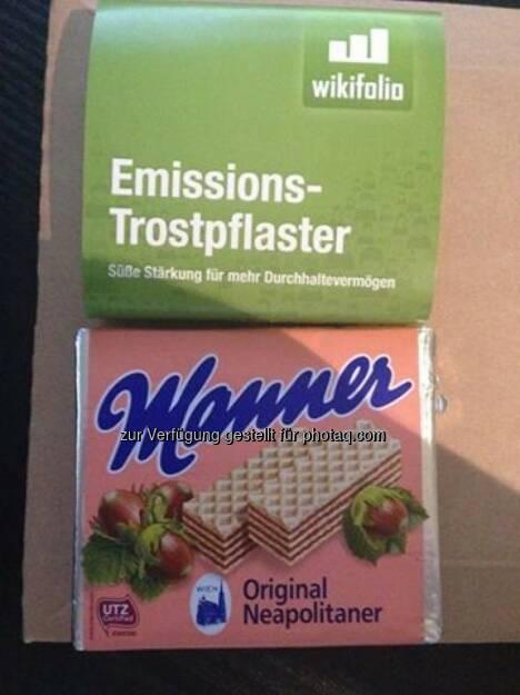 wikifolio-Trader mit Manner fürs Warten auf die Emission (14.11.2013)