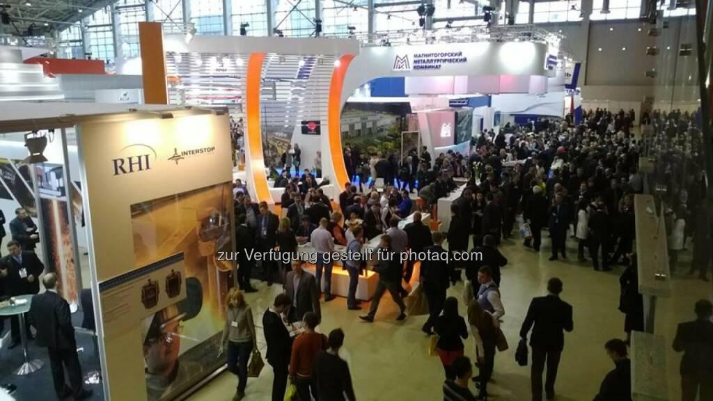RHI in Moskau - von 12. bis 15. November findet die Metal Expo - Russlands größtes metallurgisches Forum - in Moskau statt  (15.11.2013)