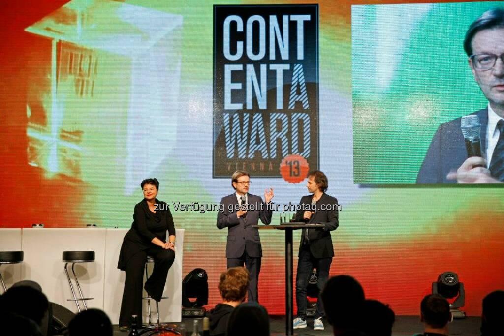 Renate Brauner mit Gerhard Hirczi, Geschäftsführer der Wirtschaftsagentur Wien, die den mingo bueros und services Preis stiftete, © ZIT, www.contentaward.at , www.zit.co.at (15.11.2013)