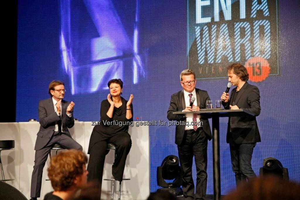 Gerhard Hirczi, Renate Brauner und Claus Hofer, Geschäftsführer der ZIT, © ZIT, www.contentaward.at , www.zit.co.at (15.11.2013)