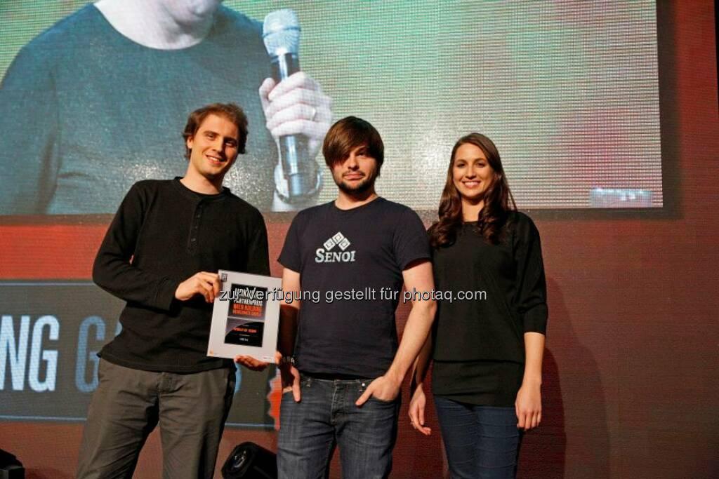 Der Wien Holding Newcomer Games Partnerpreis ging an World of Senoi, © ZIT, www.contentaward.at , www.zit.co.at (15.11.2013)