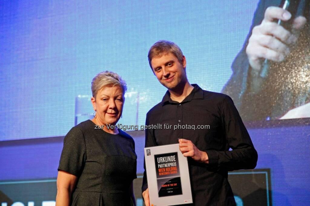 Den Wien Holding Newcomer Shorts Preis bekam Clemens Kogler für den Animationsfilm Dawn of the Cat, © ZIT, www.contentaward.at , www.zit.co.at (15.11.2013)