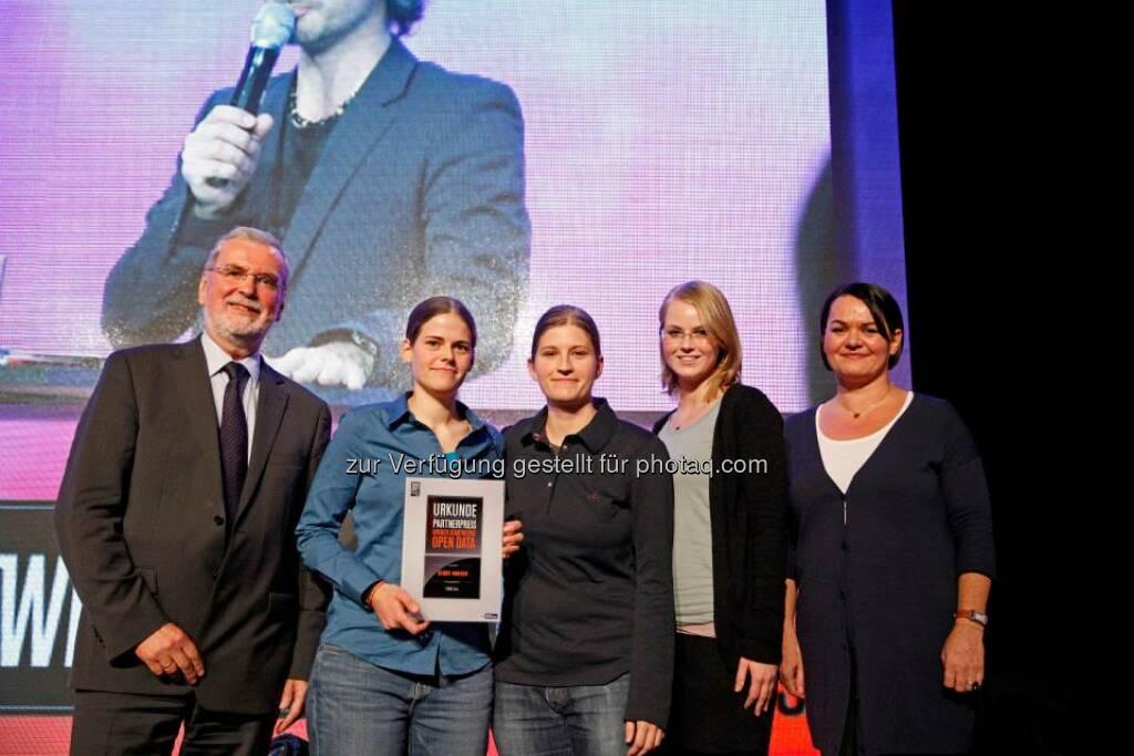 Der Wiener Stadtwerke Open Data Preis ging an die App Story Hunter, © ZIT, www.contentaward.at , www.zit.co.at (15.11.2013)