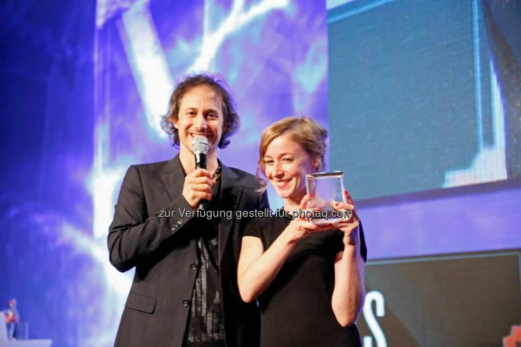 Eva Becker gewann mit  n gschichtn (n arratives) den Content Award für den besten Short, © ZIT, www.contentaward.at , www.zit.co.at (15.11.2013)