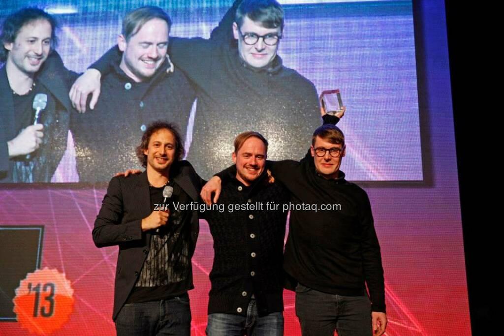 Für ihre Visualisierung The Cloud Chamber Diaries wurden Depart mit dem Content Award fürs beste Visual ausgezeichnet, © ZIT, www.contentaward.at , www.zit.co.at (15.11.2013)