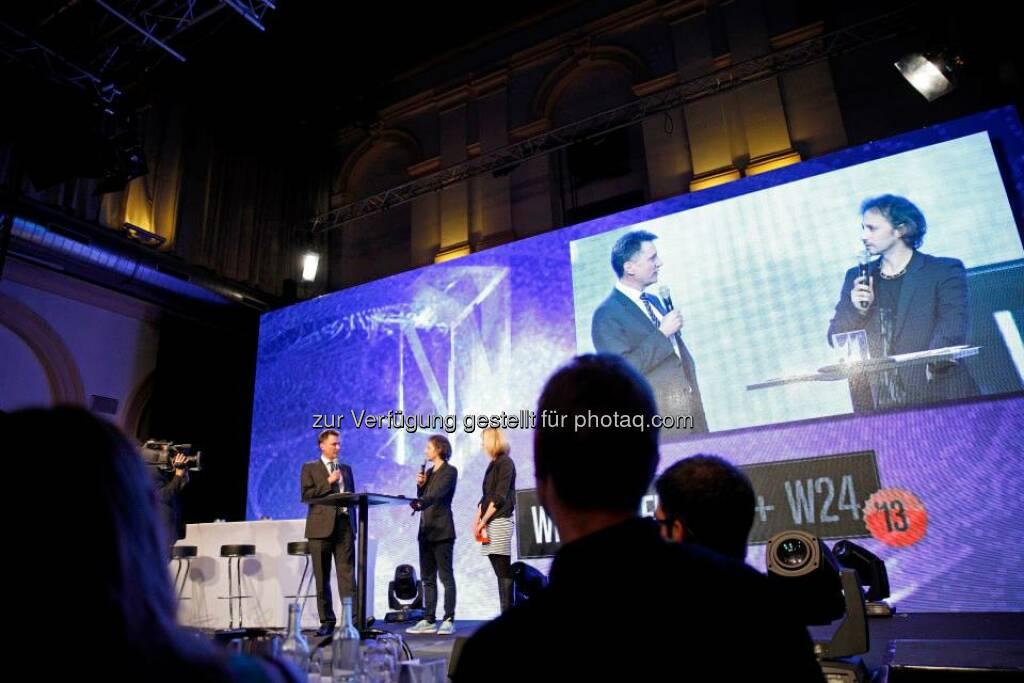 Die Wiener Zeitung und W24 - Mein Wien vergaben Medienpreise, © ZIT, www.contentaward.at , www.zit.co.at (15.11.2013)