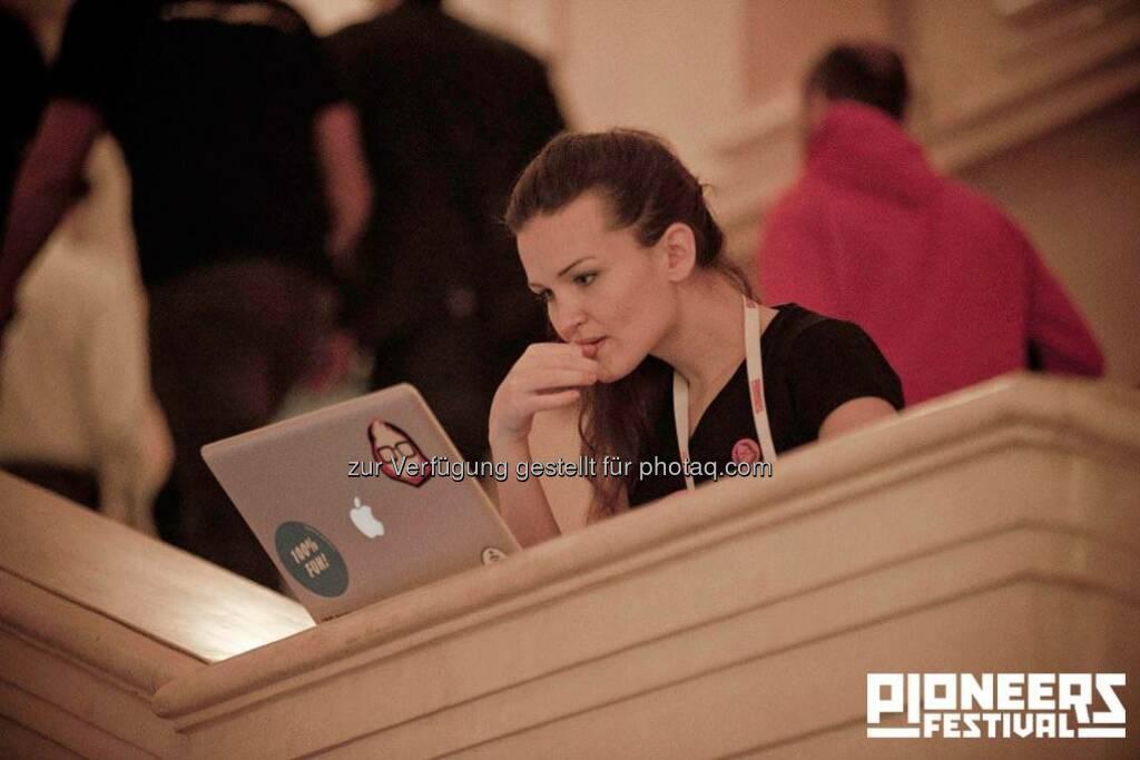 Laptop, Pioneers Festival 2013 © Andreas Nader/pioneers.io, © pioneers.io (15.11.2013)