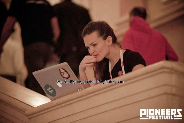 Laptop, Pioneers Festival 2013 © Andreas Nader/pioneers.io