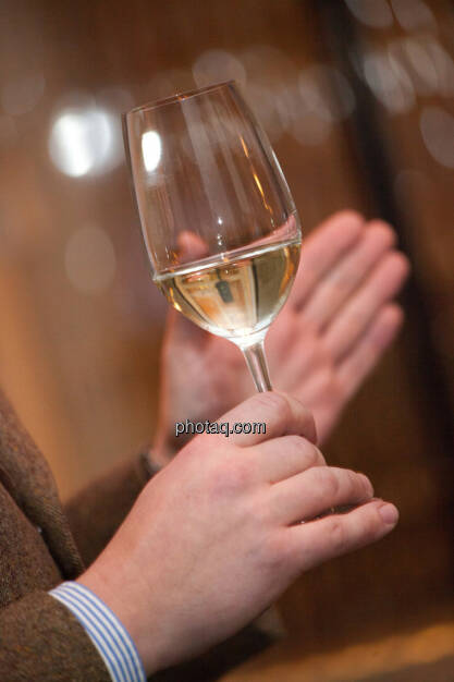 1. Brunel Achterl, Weißwein, Weinglas, Hand, © Michaela Mejta für Brunel (20.11.2013)