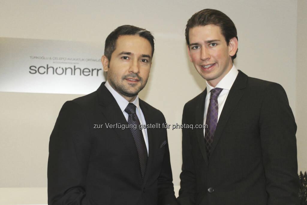 Trafen sich in Istanbul: Kazim Yilmaz (Rechtsanwalt bei Schönherr) und Sebastian Kurz (Integrationsstaatssekretär) (15.12.2012)