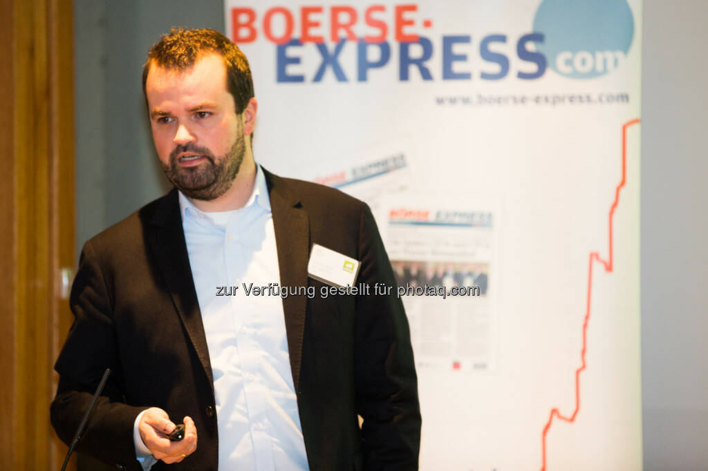 Stefan Greunz (Head of Business Development Wikifolio), © BE/Franz Reiterer (21.11.2013)