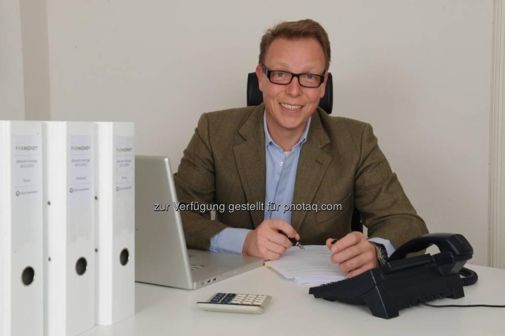 Georg Greutter, Gründer und Geschäftsführer von Fairmoney: Kooperation mit der Online Post beim Post Manager (c) Fairmoney (15.12.2012)