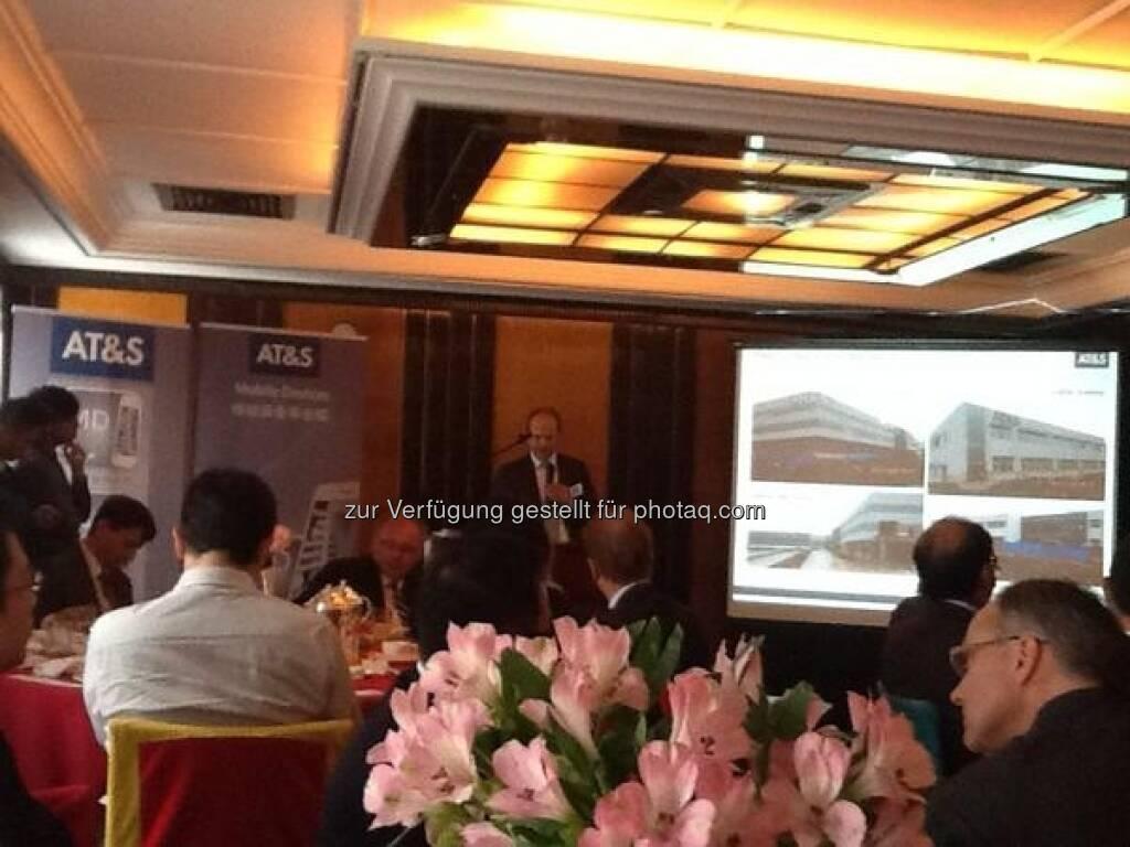 AT&S-CEO Andreas Gerstenmayer und die Wiener Börse treffen Investoren in China (15.12.2012)