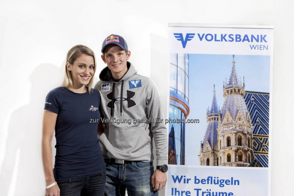 Volksbank Wien: Thomas Morgenstern mit Jacky für Wings for Life (15.12.2012)