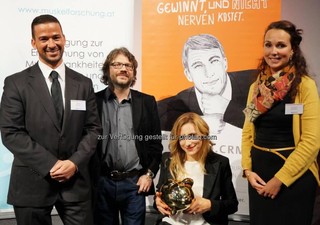 update CEO Thomas Deutschmann: 8000 Euro für die Österreichische Muskelforschung (22.11.2013)