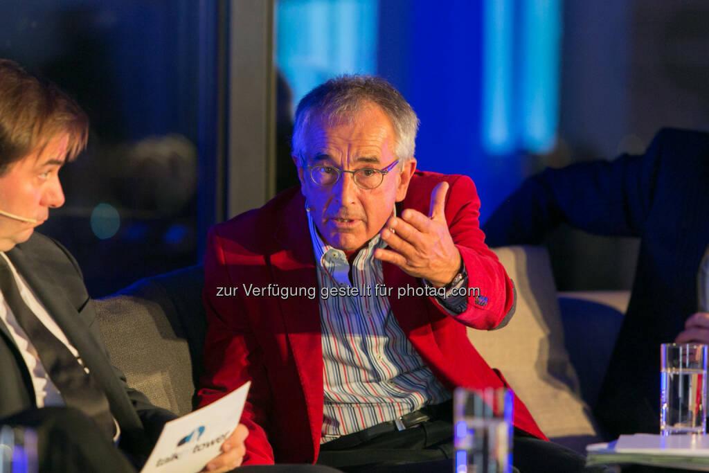 """Rainer Nowak, Chefredakteur """"Die Presse"""", Stephan Schulmeister, Wifo, © Martina Draper für Immofinanz (26.11.2013)"""