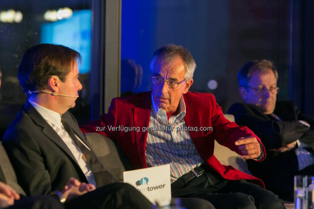 """Rainer Nowak, Chefredakteur """"Die Presse"""", Stephan Schulmeister, Wifo,  Eduard Zehetner, CEO Immofinanz Group, © Martina Draper für Immofinanz (26.11.2013)"""