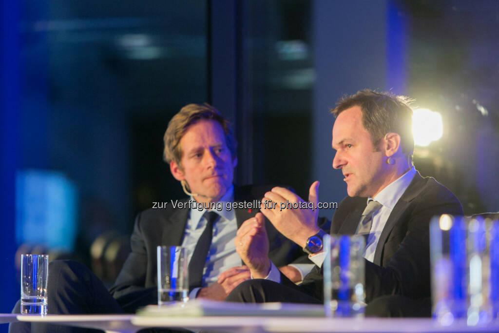 Jan Krainer, SPÖ-Bereichssprecher für Budget und Finanzen, SPÖ, Franz Schellhorn, Leiter des neuen Thinktanks Agenda Austria, © Martina Draper für Immofinanz (26.11.2013)