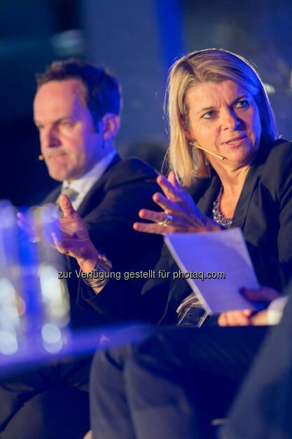 Franz Schellhorn, Leiter des neuen Thinktanks Agenda Austria, Barbara Potisk-Eibensteiner, CFO RHI AG, © Martina Draper für Immofinanz (26.11.2013)