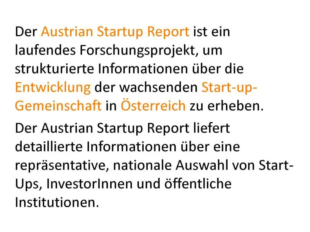Austrian Startup Report 2013 - Motive, © mit freundlicher Genehmigung von Speed Invest (26.11.2013)